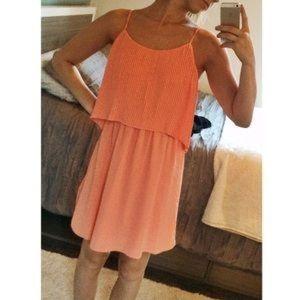 Coral spaghetti strap dress